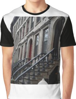 Classic Architecture, Mercer Street, Jersey City, New Jersey Graphic T-Shirt