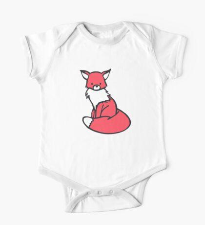 Little Red Fox One Piece - Short Sleeve
