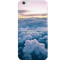 Heaven Lyrics iPhone Case/Skin