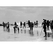 On The Beach Black and White Photographic Print