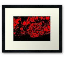 Red 'n Black Framed Print