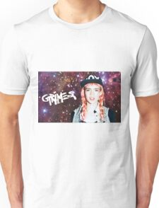 Grimes w/ logo in space Unisex T-Shirt