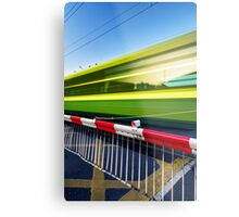 Fast train Metal Print