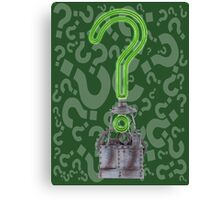 Riddlers Trophy Canvas Print