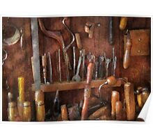 Woodworker - Old tools Poster