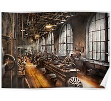 Machinst - A room full of Lathes  Poster