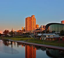 Adelaide River Precinct at Sunset by Ferenghi