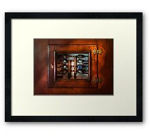 Steampunk - Electrical - The fuse panel Framed Print