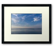 Blue Serenity - Silky Ripples and Brushstrokes Framed Print