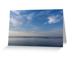 Blue Serenity - Silky Ripples and Brushstrokes Greeting Card