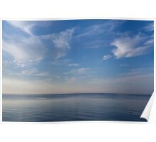 Blue Serenity - Silky Ripples and Brushstrokes Poster