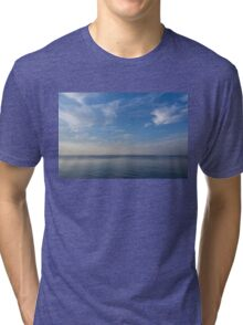 Blue Serenity - Silky Ripples and Brushstrokes Tri-blend T-Shirt