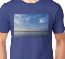 Blue Serenity - Silky Ripples and Brushstrokes Unisex T-Shirt