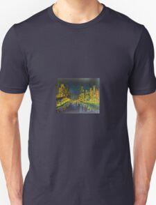 Southbank at Night Melbourne Vic Australia Unisex T-Shirt