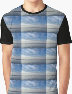 Blue Serenity - Soft Waves and Brushstrokes Graphic T-Shirt
