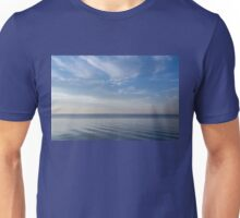 Blue Serenity - Soft Waves and Brushstrokes Unisex T-Shirt