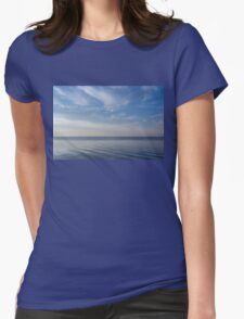 Blue Serenity - Soft Waves and Brushstrokes Womens Fitted T-Shirt