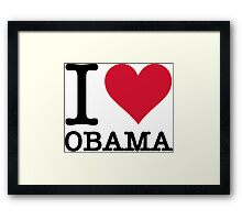 I Love Obama Framed Print