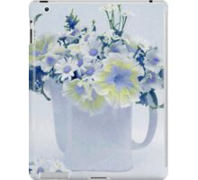Teapot Of Yellow And Blue Petunias And Daisies  iPad Case/Skin
