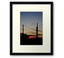 barbed wire menzies hotel Framed Print