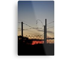 barbed wire menzies hotel Metal Print