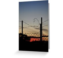 barbed wire menzies hotel Greeting Card
