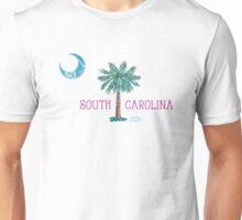 South Carolina Palmetto Tree and Moon by Jan Marvin Unisex T-Shirt