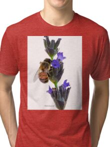 Bee on the Lavender Tri-blend T-Shirt