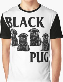 black pug Graphic T-Shirt