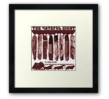 the hateful eight Framed Print