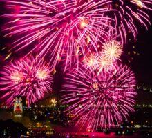 Sydney New Year's Eve Fireworks (Purple) Sticker