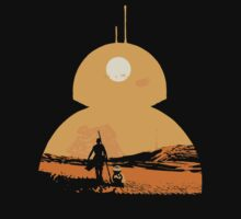 Star Wars The Force Awakens BB8 Poster Kids Tee