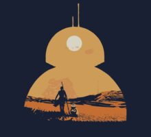 Star Wars The Force Awakens BB8 Poster Baby Tee