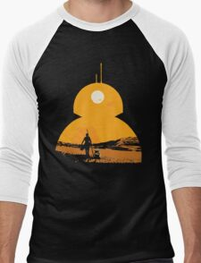 Star Wars The Force Awakens BB8 Poster Men's Baseball ¾ T-Shirt