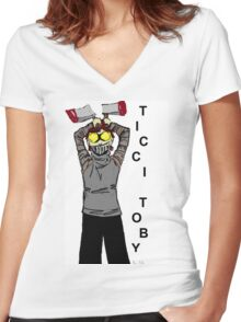 Ticci-Toby Tribute Women's Fitted V-Neck T-Shirt