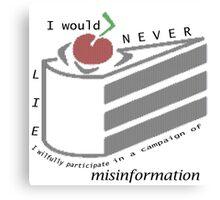 Misinformation Canvas Print