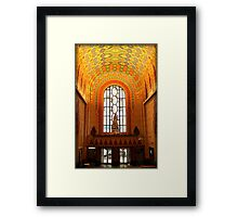 Lobby Of Guardian Building In Detroit At Christmas Framed Print