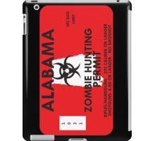 Zombie Hunting Permit - ALABAMA iPad Case/Skin