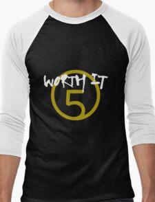 Worth It - 5H // White Text Men's Baseball ¾ T-Shirt