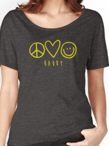 Raury-Peace Love Happiness Women's Relaxed Fit T-Shirt