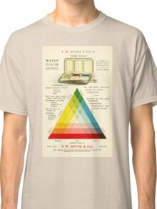 Gorgeous early 20th c. color instruction image Classic T-Shirt