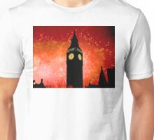 Big Ben - New Years Eve Fireworks 2010 -  2011 - HDR Unisex T-Shirt