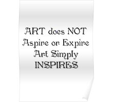 ART does NOT Poster