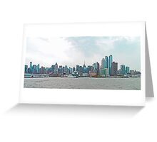 New York Waterfront - panorama Greeting Card