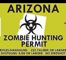 Zombie Hunting Permit - ARIZONA by SMALLBRUSHES