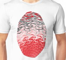 Fractal Rise in Red Black and White Unisex T-Shirt