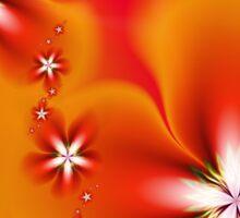 Fleur d'Automne Fractal Sticker