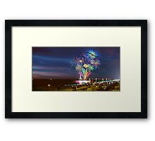 NYE Fireworks 2015 | Brighton Beach Framed Print
