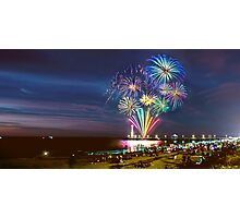 NYE Fireworks 2015 | Brighton Beach Photographic Print