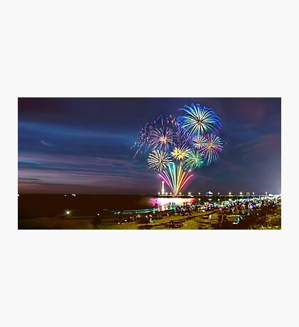 NYE Fireworks 2015 | Brighton Beach Photographic Print